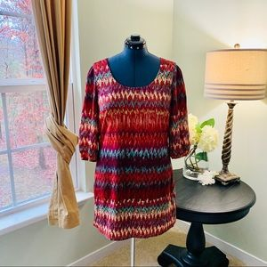 Lily Rose Multicolored Dress Size L